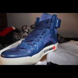Nylon blue Gucci sneakers